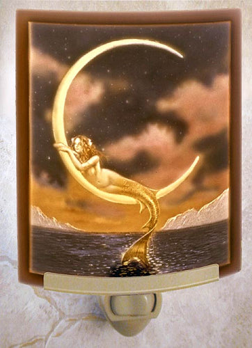 Mermaid and Moon Night Light Color