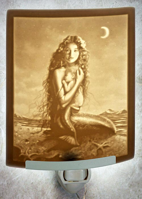 Mermaid and Child Night Light