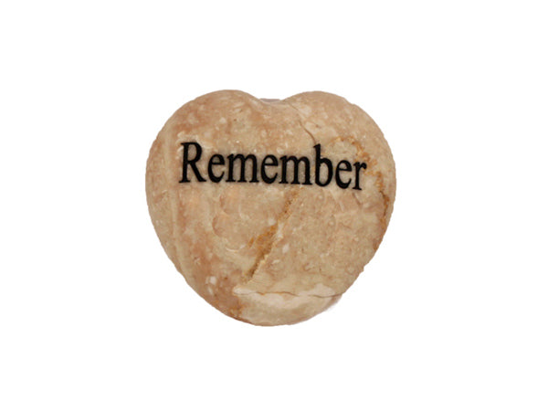 Remember Small Engraved Heart