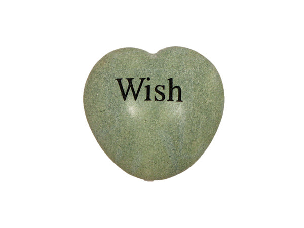 Wish Small Engraved Heart