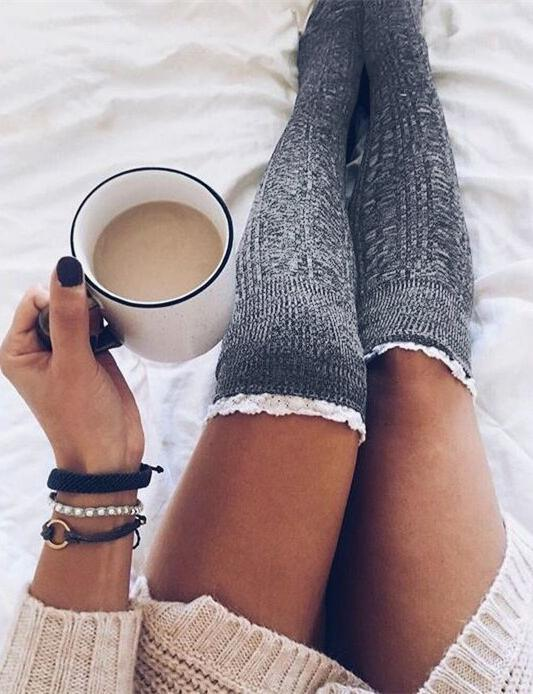 Knit Over Knee Long Thigh High Socks