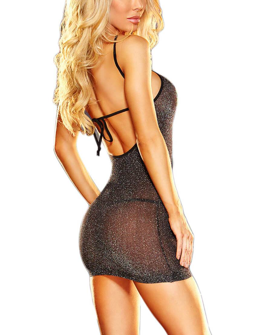 Backless Mini Dress & G-String