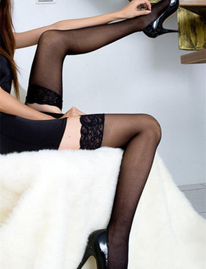 30D Sheer Hold Up Non-slip Stockings
