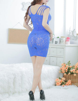 Floral Strappy Chemise Babydoll Dress