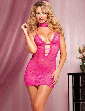Lace Backless Sling Nightdress