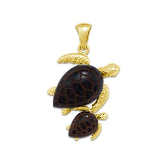 Honu Mom and Baby Pendant