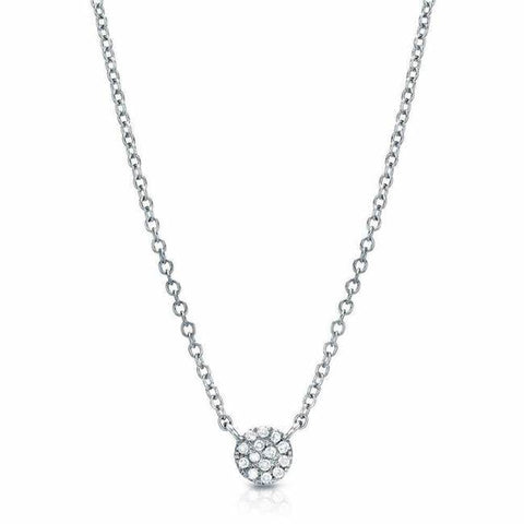 Medium Pave set Diamond Necklace