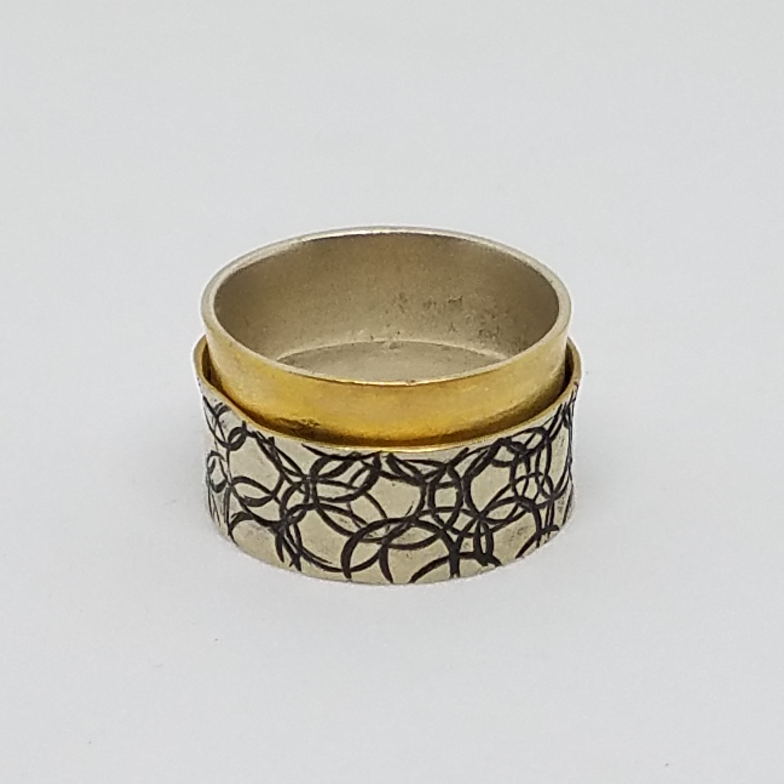 Two Tone Sleeve Ring