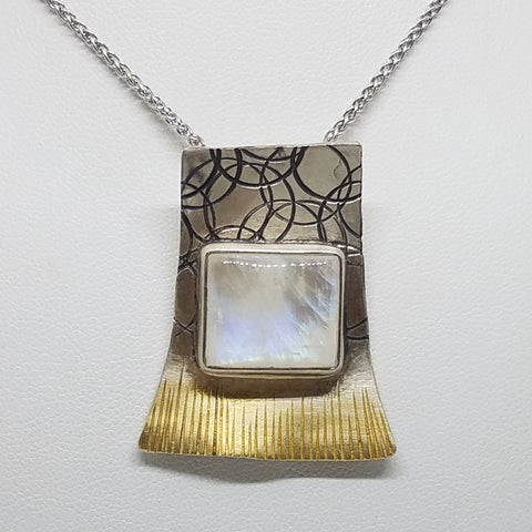 Three Tone Moonstone Pendant