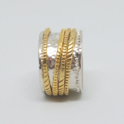 Two Tone Movement Ring