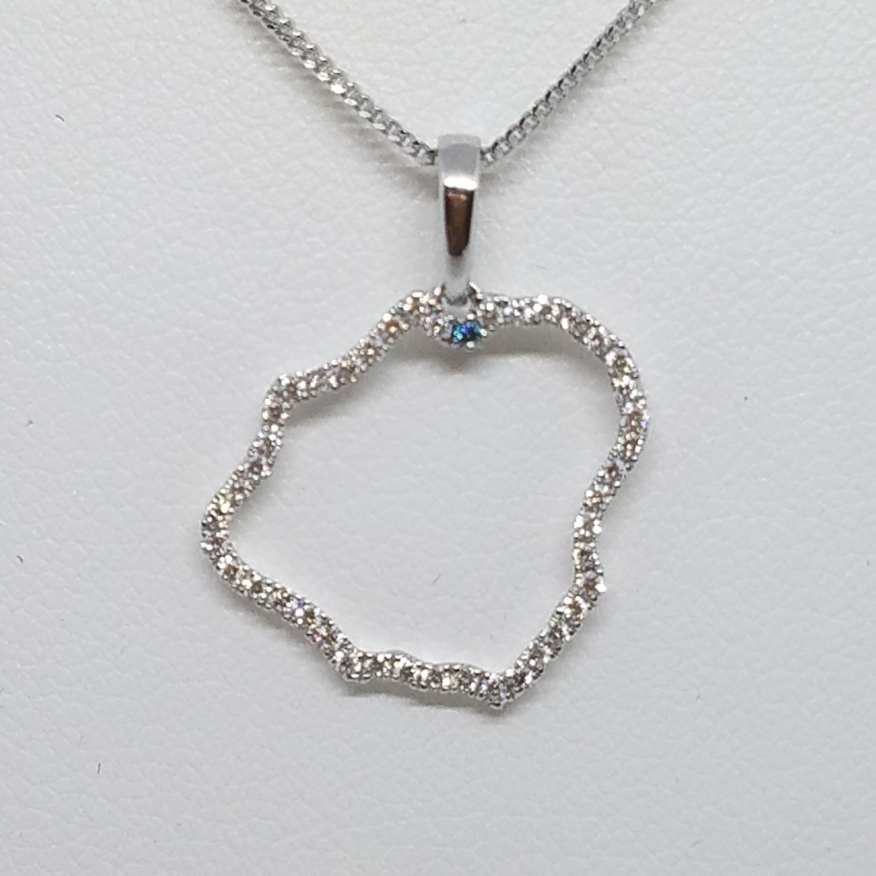 Exclusive Hanalei, Kauai Pendant with Diamonds