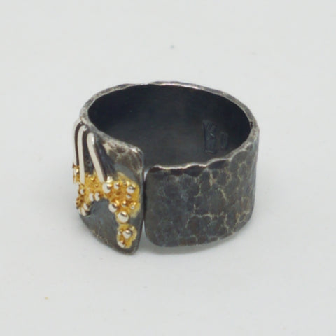 Two Tone Wide Ring