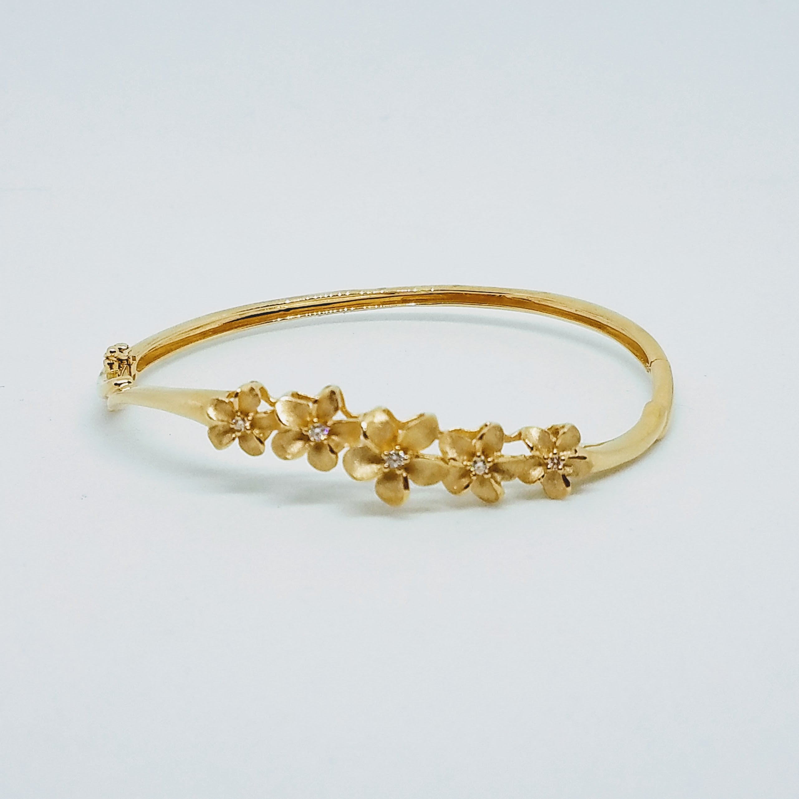 Plumeria Lei Bangle Bracelet