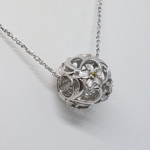Plumeria Ball Charm or Pendant