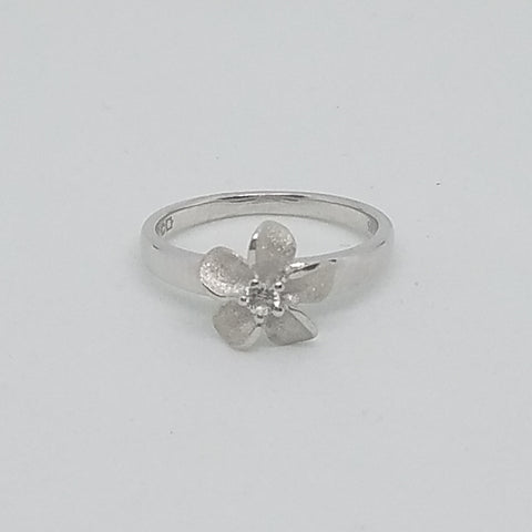 Silver Single Plumeria Ring