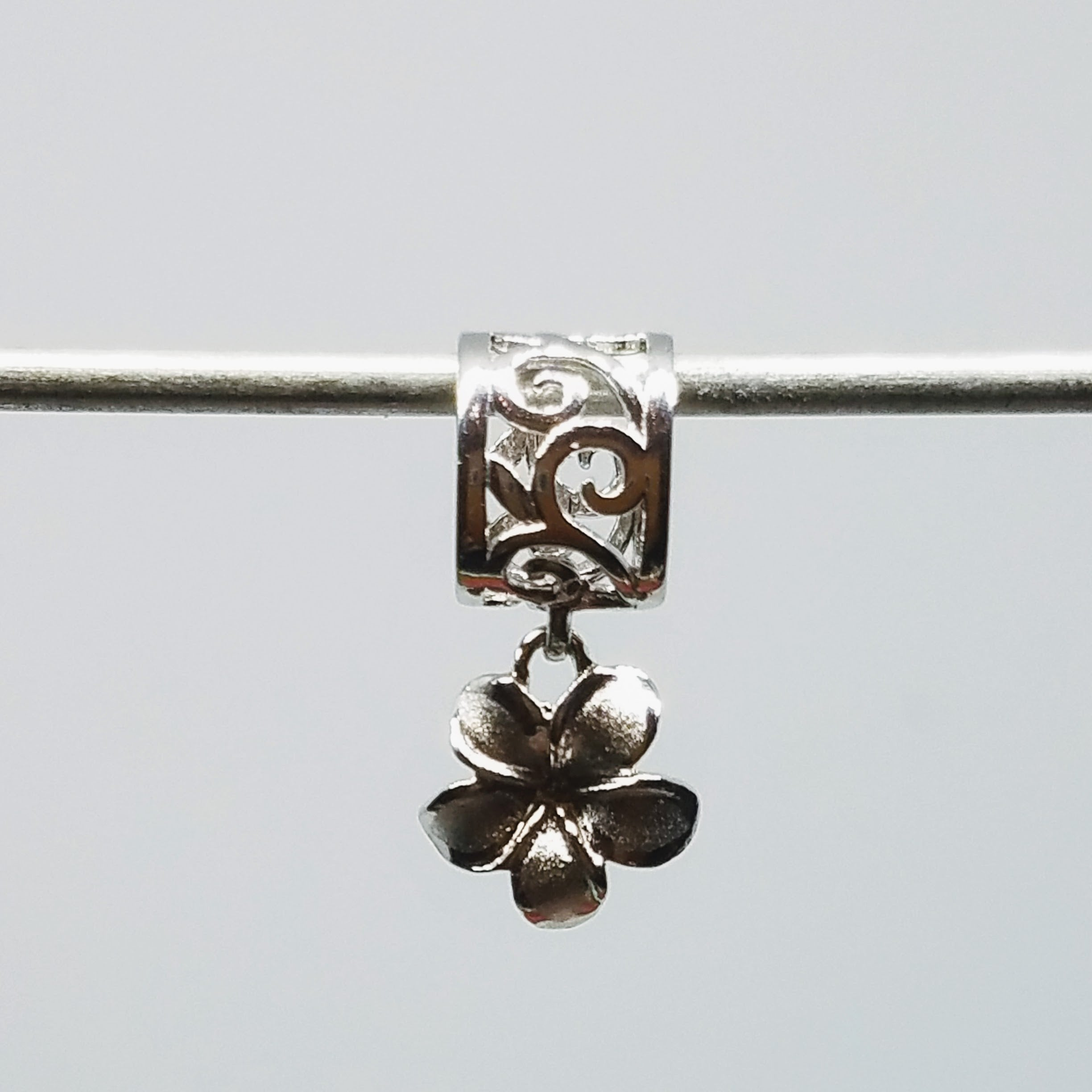 Plumeria Dangle Charm