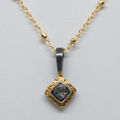 Simple Rough Uncut Diamond Pendant