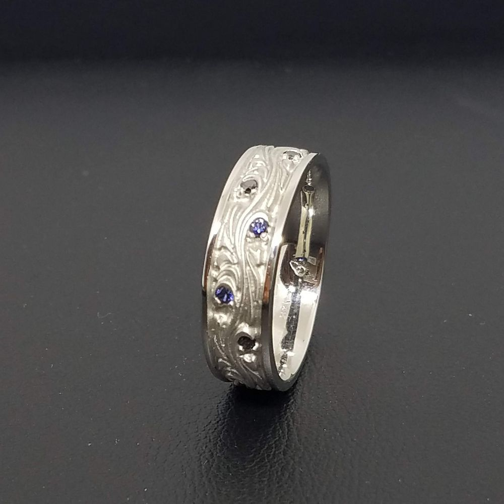 White Gold Midnight Ring