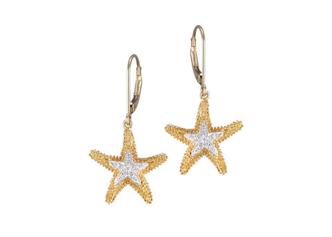 Dangling Sea Star Earrings