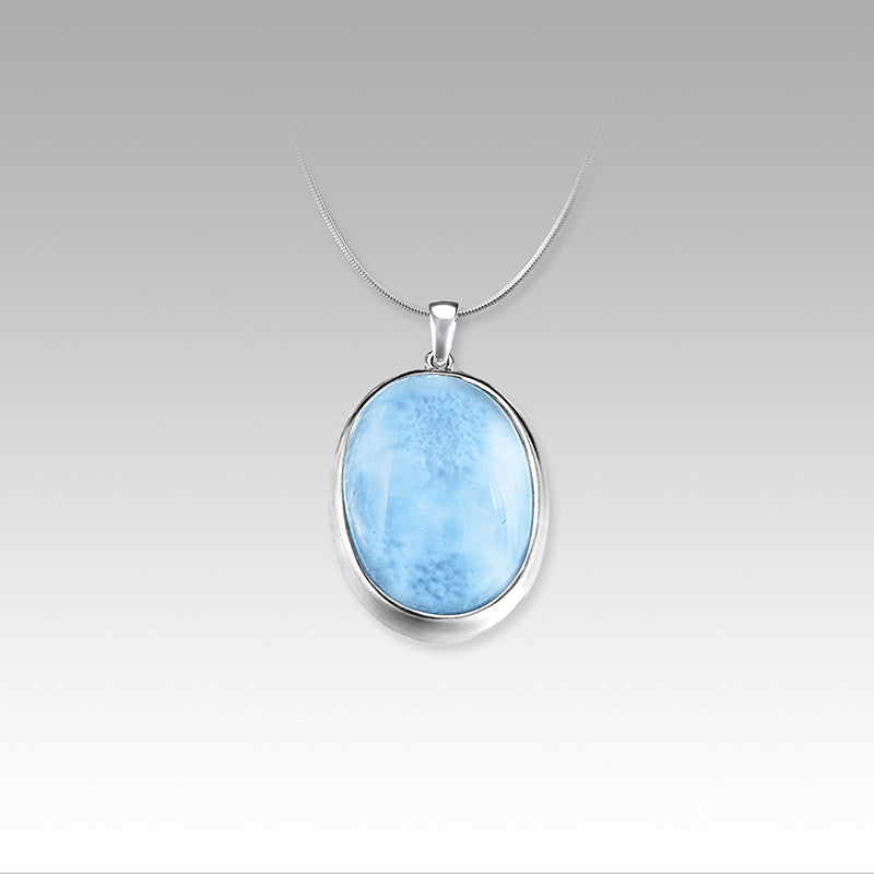 "MarahLago ""Basic Oval"" Larimar Necklace"