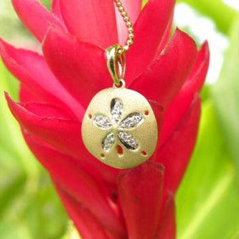 Denny Wong 15mm Two Tone Sand Dollar Pendant