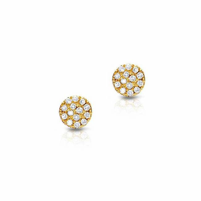 Medium Pave set Diamond Stud Earrings