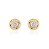 Diamond Bezel Earrings