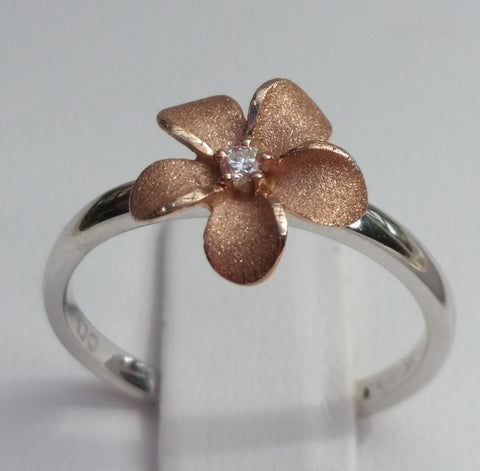 Denny Wong 10mm Plumeria Flower Ring