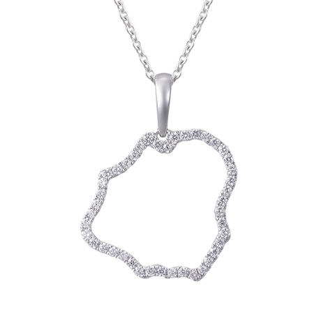 Kauai Pendant with Diamonds