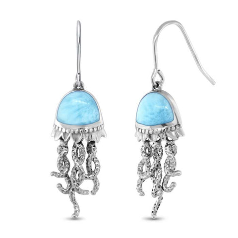 Jellyfish Larimar Earrings