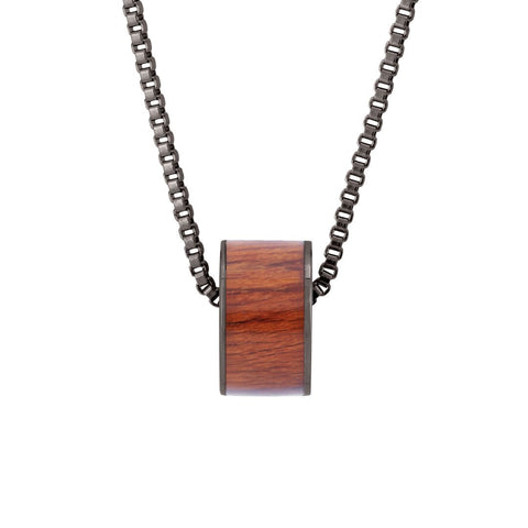 Koa Barrel Charm or Pendant - Wide Style