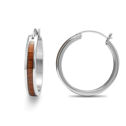 Koa Wood Hoop Earrings