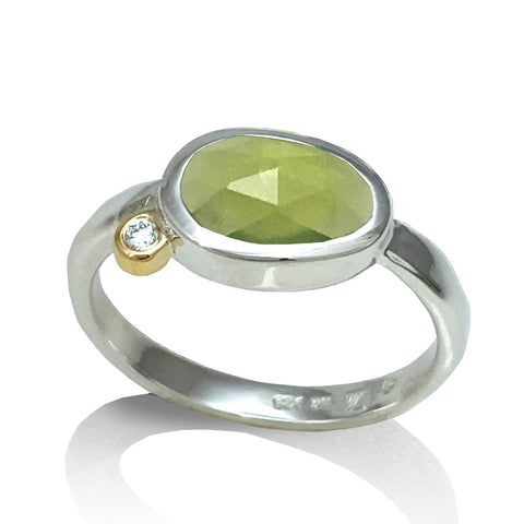 Peridot Pebble Ring