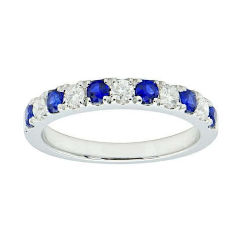 Diamond and Blue Sapphire band