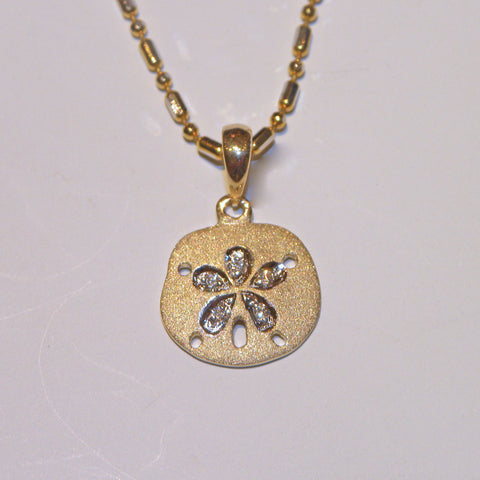 Denny Wong 11mm Two Tone Sand Dollar Pendant