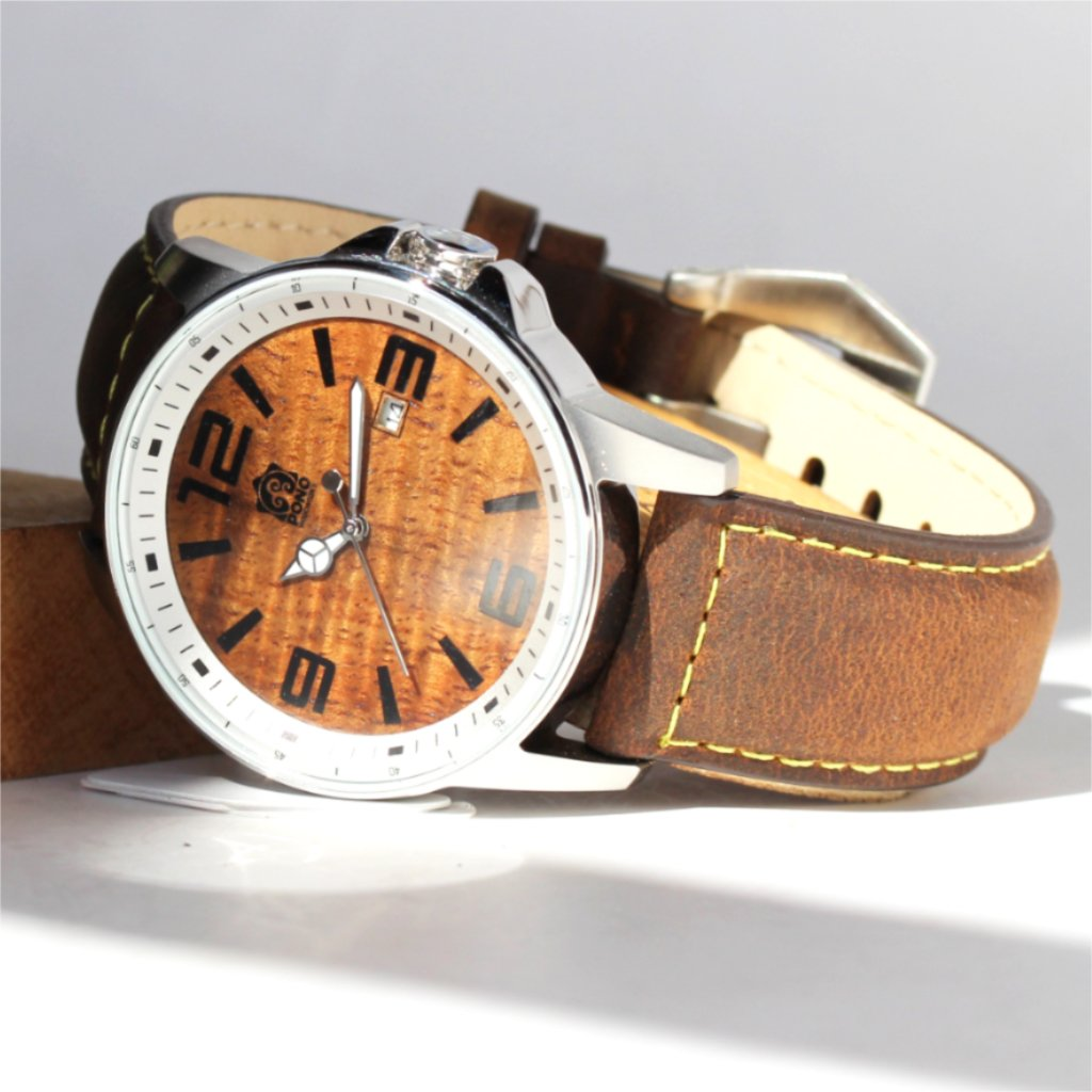 Boardroom Koa Wood Watch