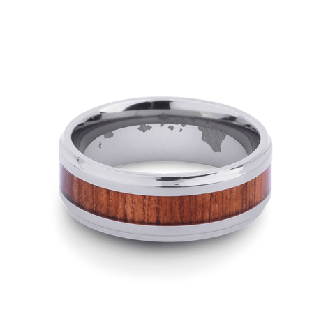 Cove Koa Wood Inlay Titanium Ring