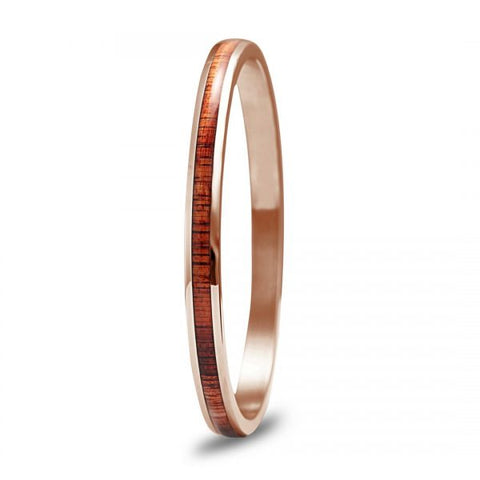 Koa Wood Rose Gold Bangle