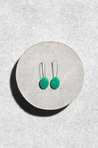 1940s Japanese green glass earrings