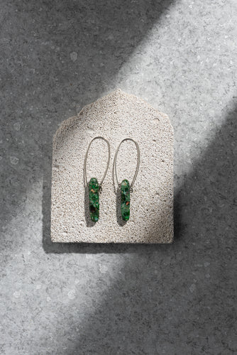 Green Ocean Jasper earrings