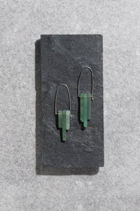 Aventurine trio earrings