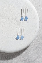 Load image into Gallery viewer, 1940s Czechoslovakian vintage blue glass earrings