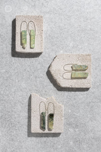 SECONDS: polished Prehnite earrings