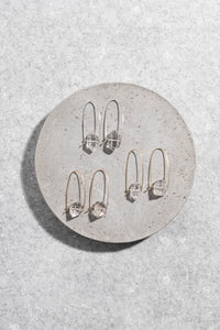 Herkimer Diamond earrings in sterling silver, 9ct rose gold or 9ct yellow gold