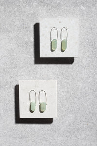 Matte Prehnite earrings