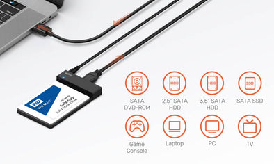 How to convert SATA hard drive to USB