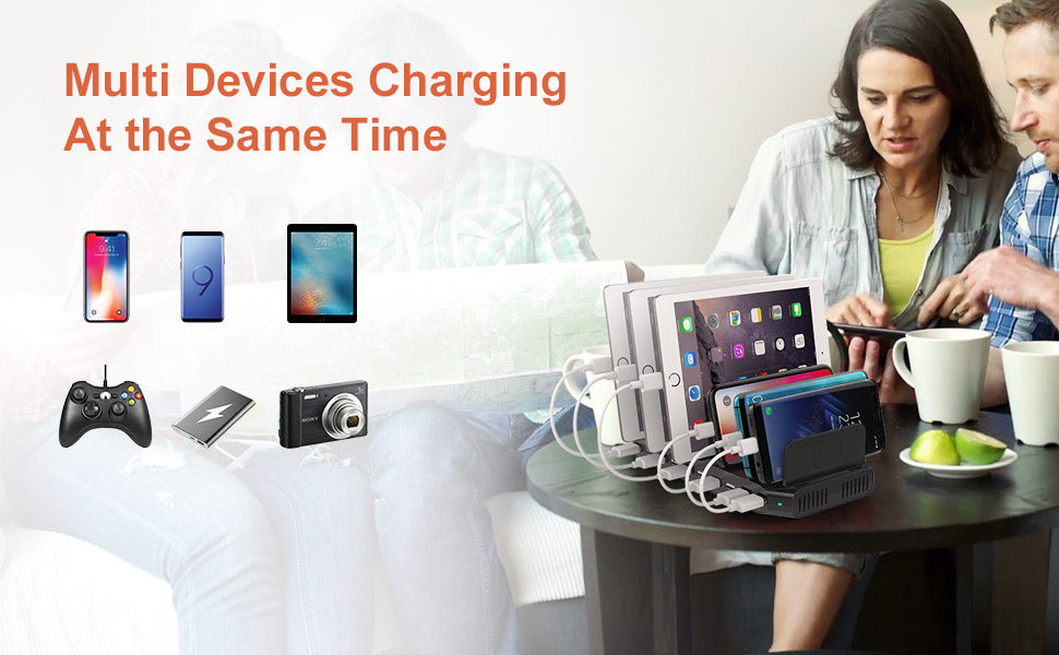 10 Ports iPad iPhone Charging Station 60W