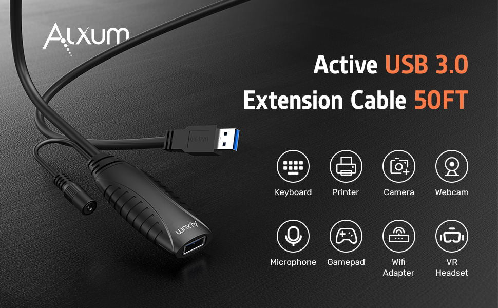 Active USB Extension Cable 15M50FT