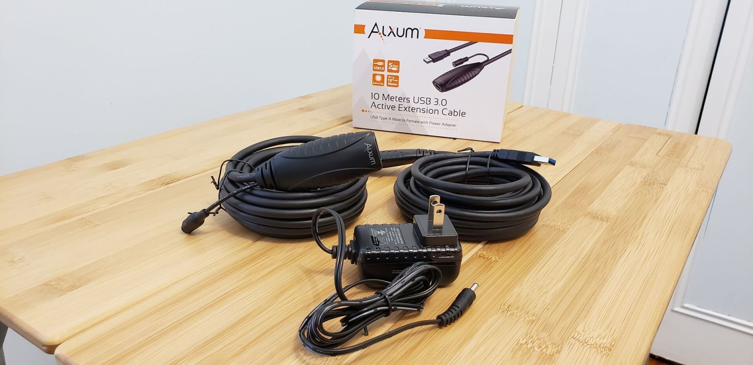 Alxum-Active-USB-3.0-Extension-Cable-32FT-Power-Adapter