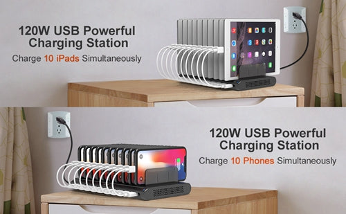 Are USB Charging Stations Safe? Alxum 120W 10-Port USB Charging Station